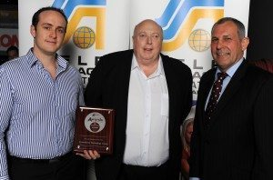 SiteLink Australia CEO and General Manager accept award